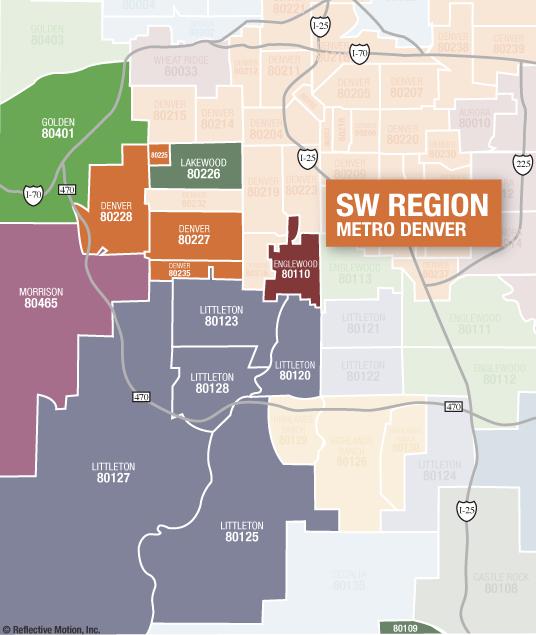 Highlands Ranch Colorado Street Map 0836410: Denver Real Estate Market Reports By Zip Code