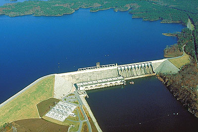 Richard B Russell Dam at Lake Russell