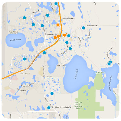 Lake Nona Interactive Real Estate Map Search