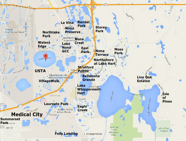 lake nona neighborhood area