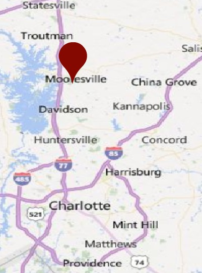 MOORESVILLE NC MAP