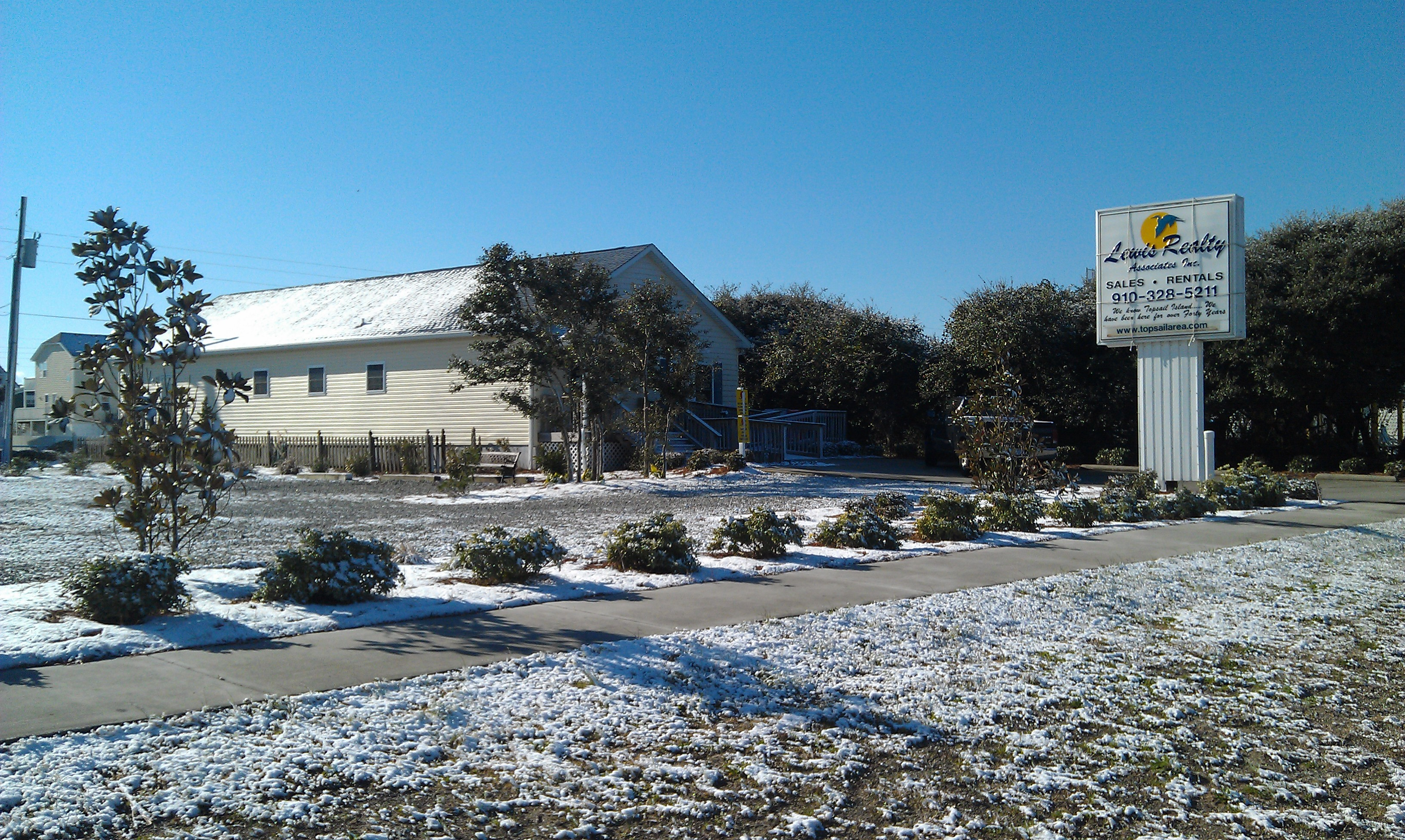 Lewis Realty Associates Topsail Island Snow Covered