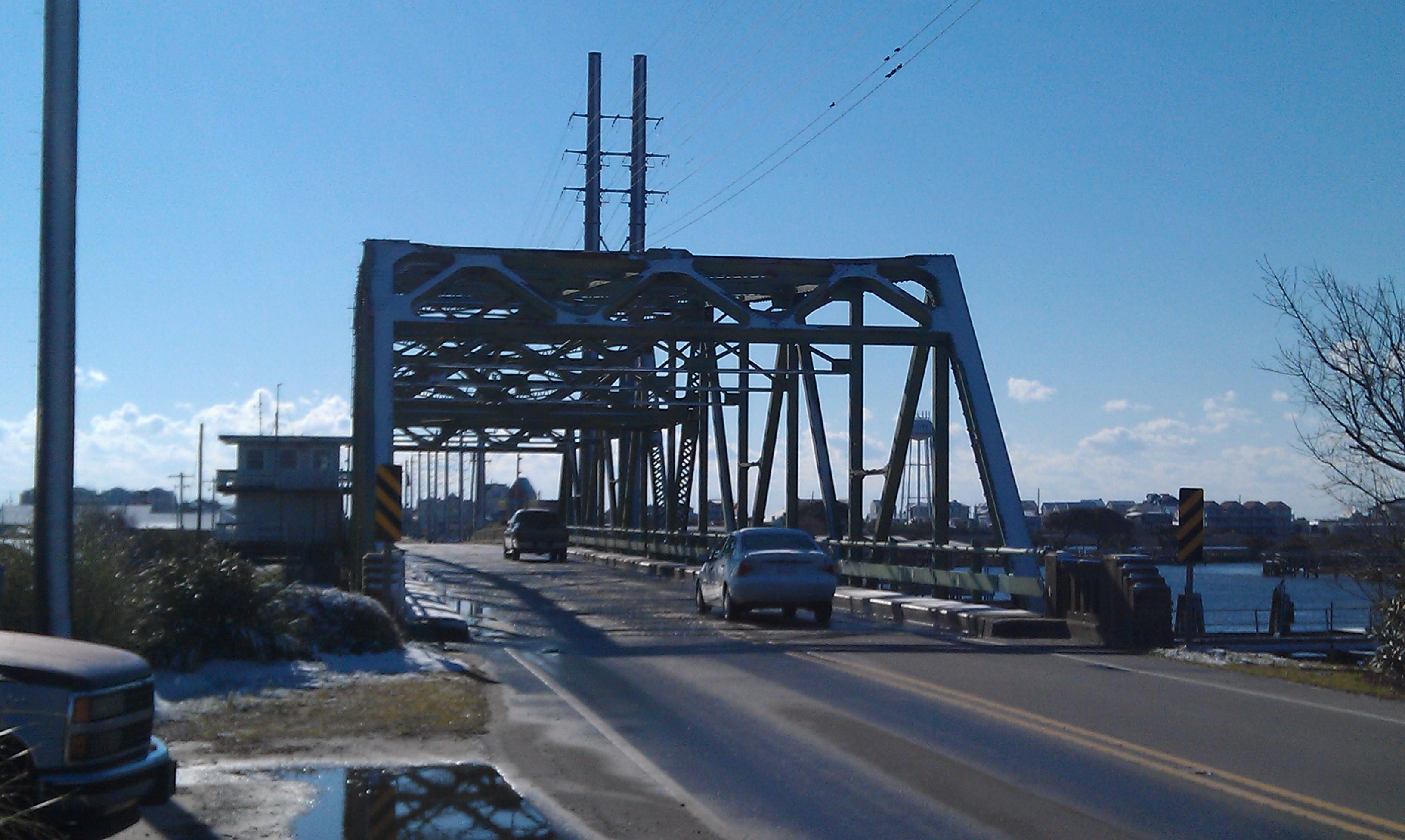 Surf City NC Bridge With Snow