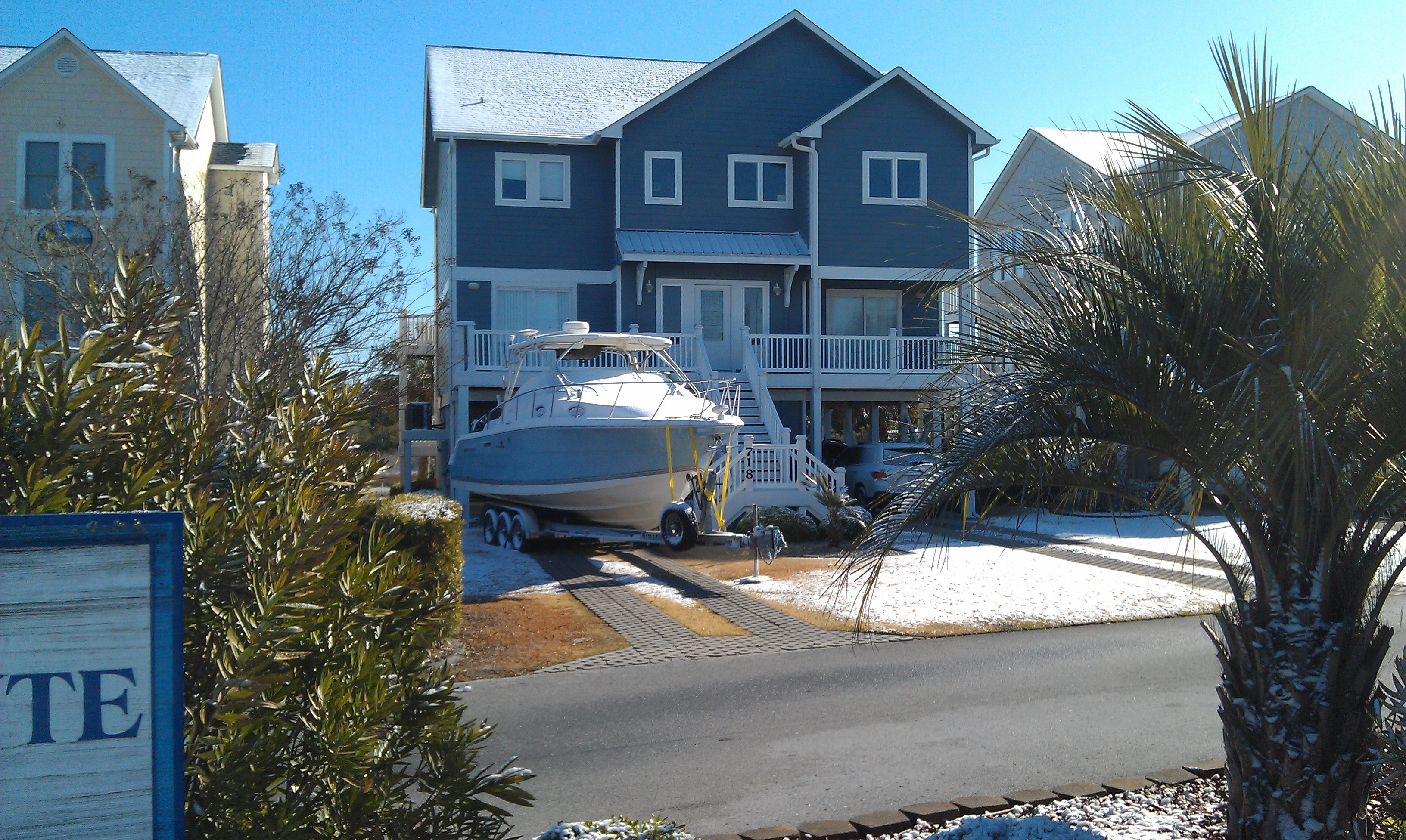 Surf City Boat with Snow