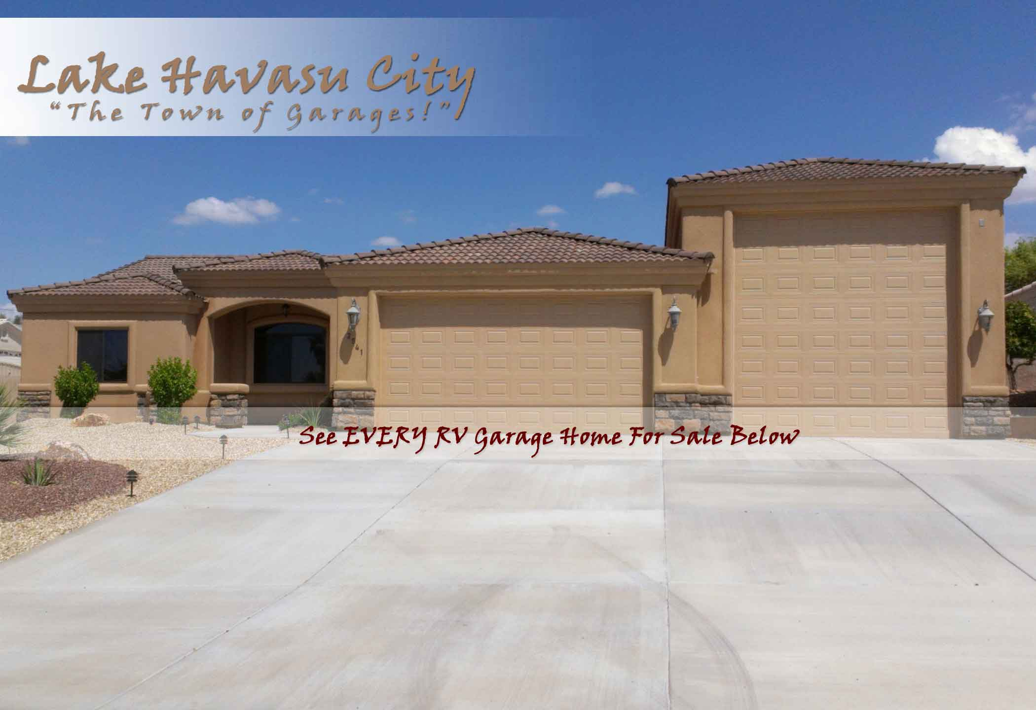 Rv garage homes for sale in lake havasu for Rv garage