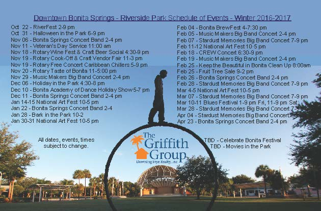 Downtown Riverside Park Events 2016-2017