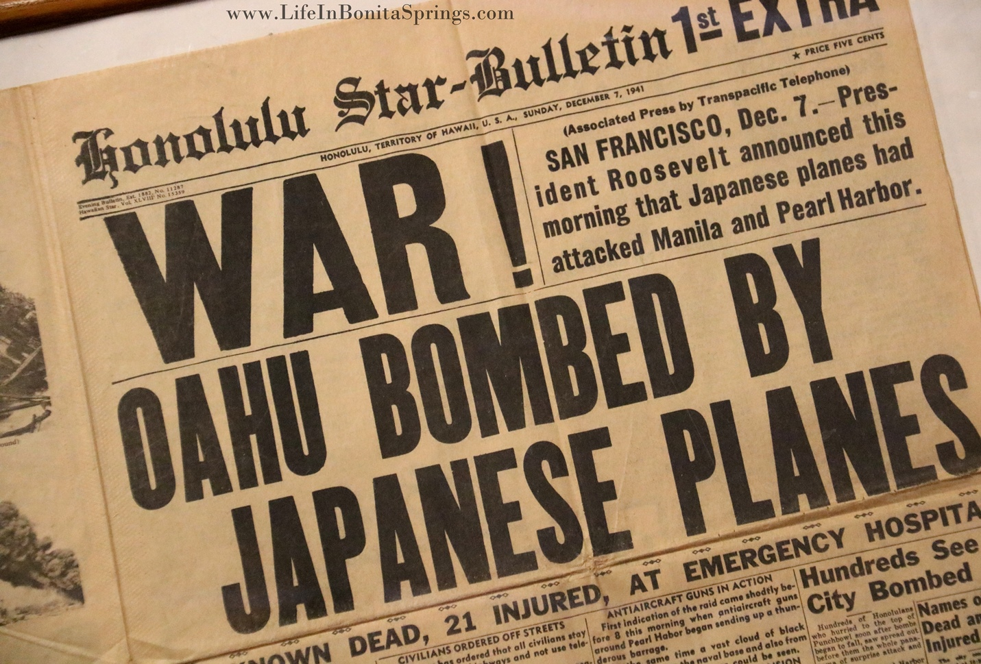 Military Museum Newspaper Display