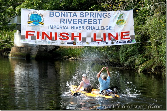 Crossing the Finish Line at Riverfest
