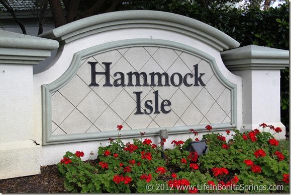 Hammock Isle Bonita Bay Sign