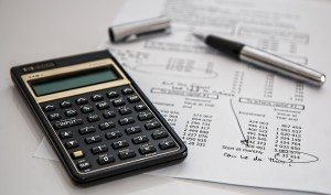 calculator and finance sheet