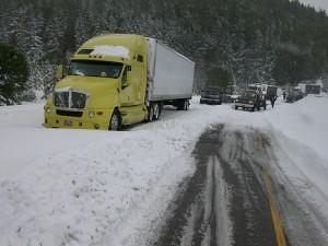 Moving van winter time