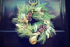 seasonal wreath on door