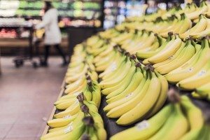 bananas at a supermarket