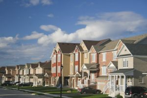 properties along a wide street