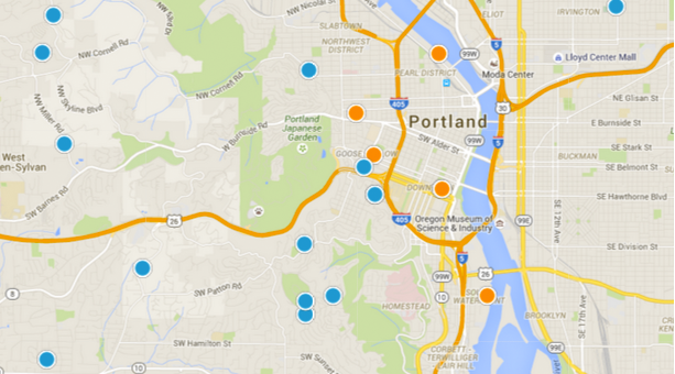 Search Portland By Map