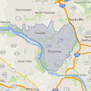 Zip Code Map for Potomac