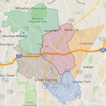 Zip Code Map for Silver Spring