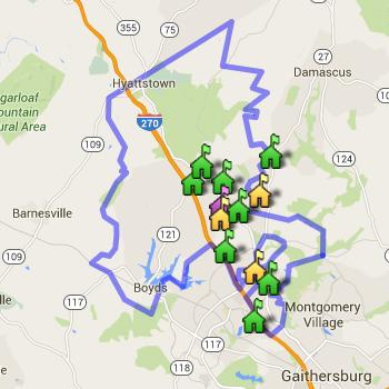 Clarksburg Cluster Boundary Map
