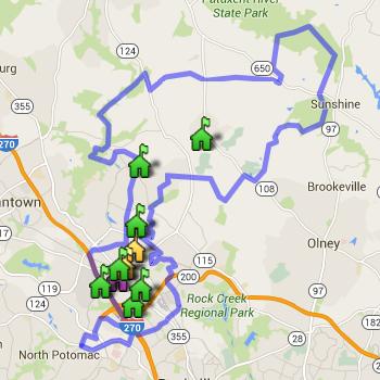 Gaithersburg Cluster Boundary Map