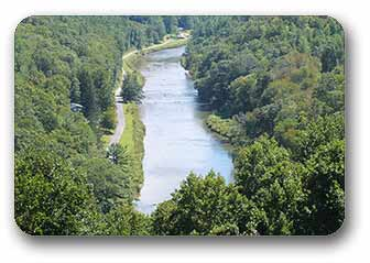 New River in West Jefferson in Ashe County North Carolina