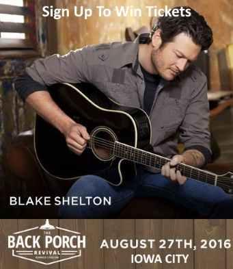 Blake Shelton Back Porch Revival