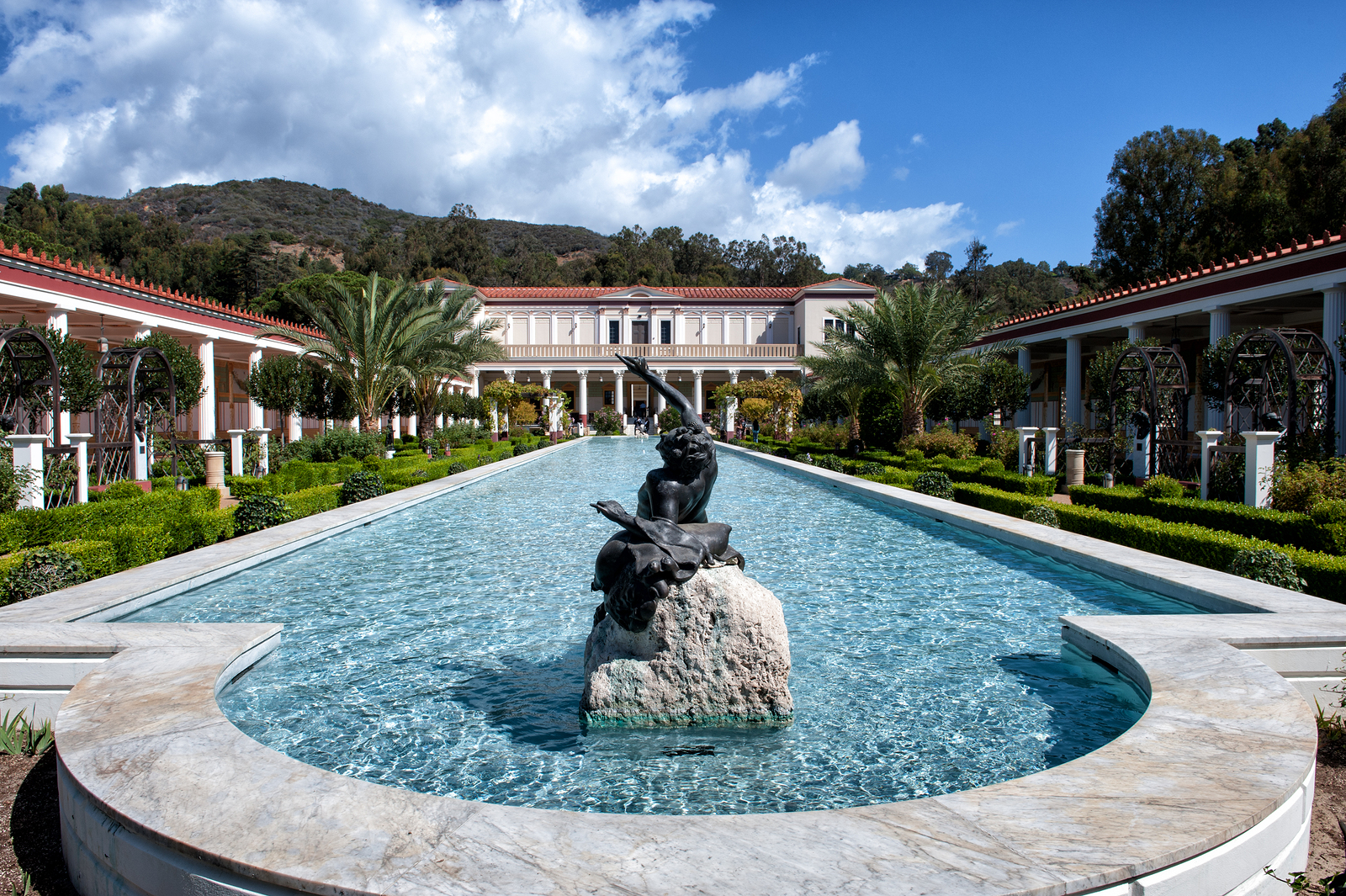 Visit the Getty Villa near Pacific Palisades homes.