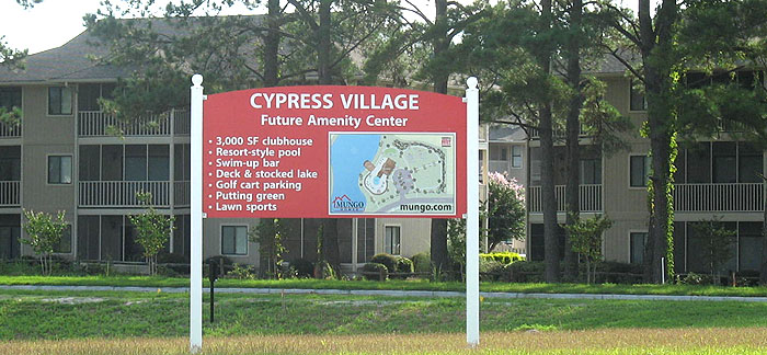 Cypress Village Amenity Center Sign