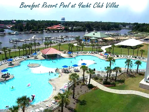 Pool at Barefoot Resort in North Myrtle Beach