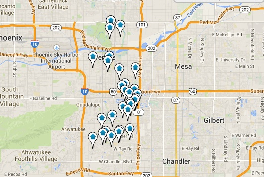 Tempe Real Estate for Sale Map Search