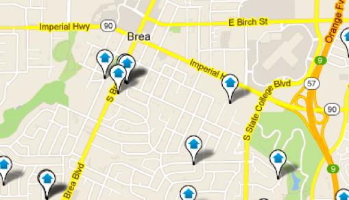Brea Map Search