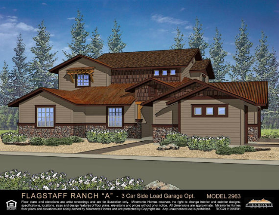 Remax fine living exclusive new townhomes in flag ranch for 3 car side load garage