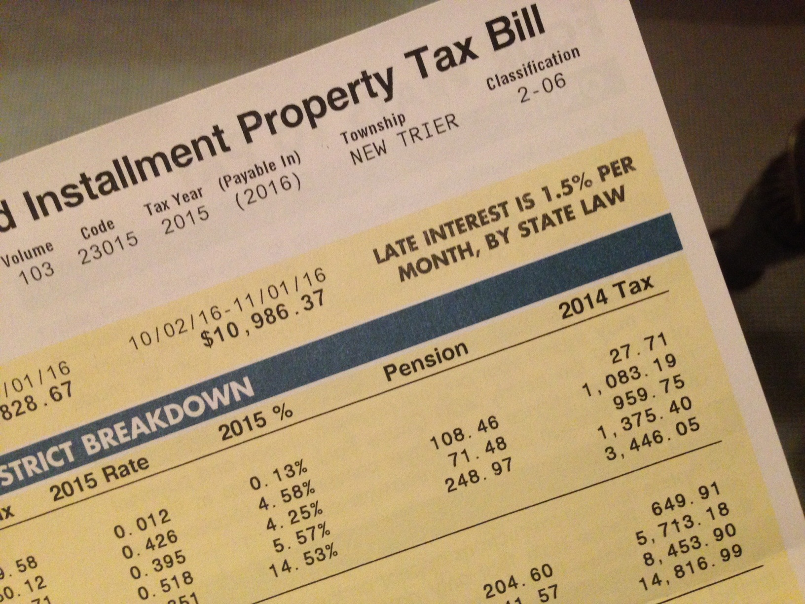 Cook county property tax bill