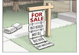 yard sign of desperate home seller