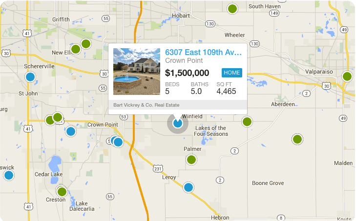 Search Crown Point Homes By Map.psd