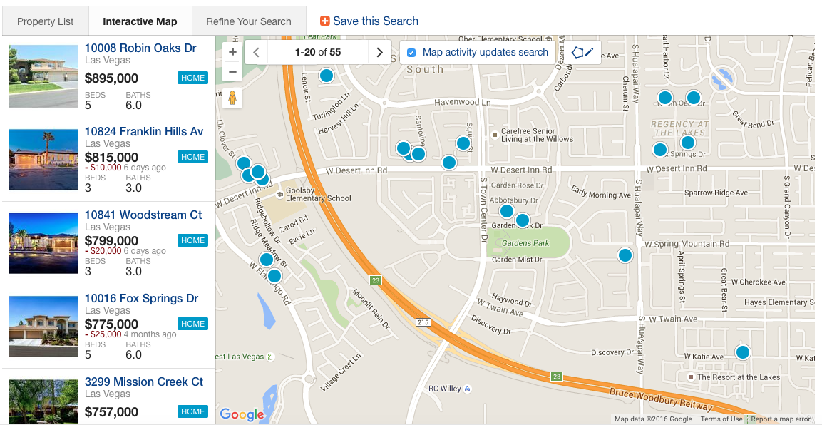 Search Gardens Homes and Real Estate by Map