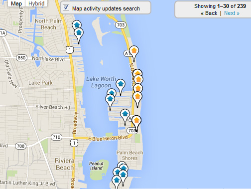 Singer Island Map Search for Homes