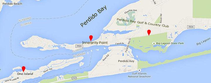 Perdido Beach Florida Map