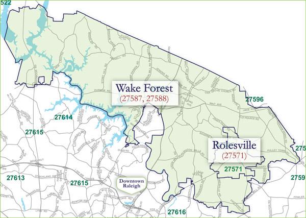 wake county zip code map pdf
