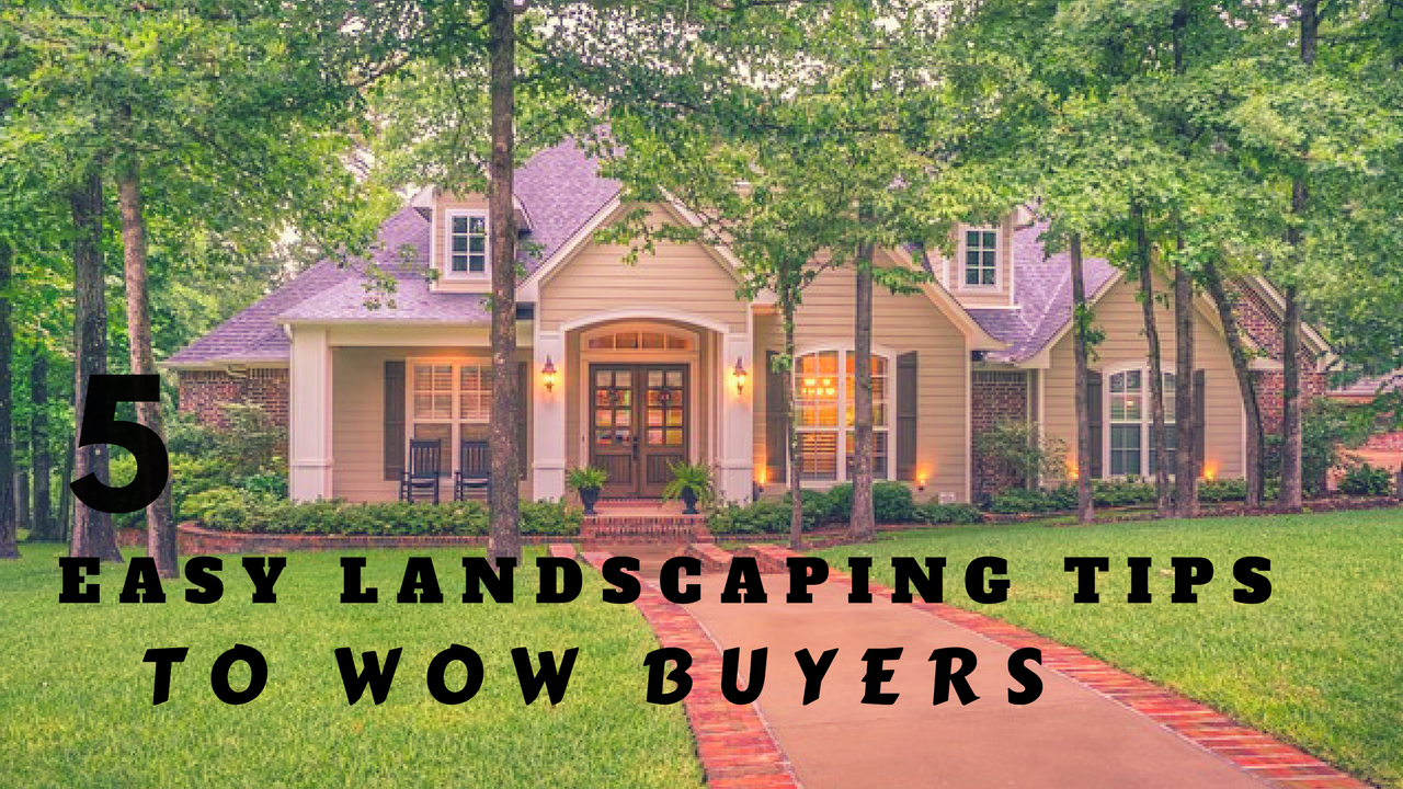 5 Easy Landscaping Tips to Wow Buyers