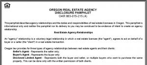 Porltand Real Estate - OR Agency Disclosure Pamphlet