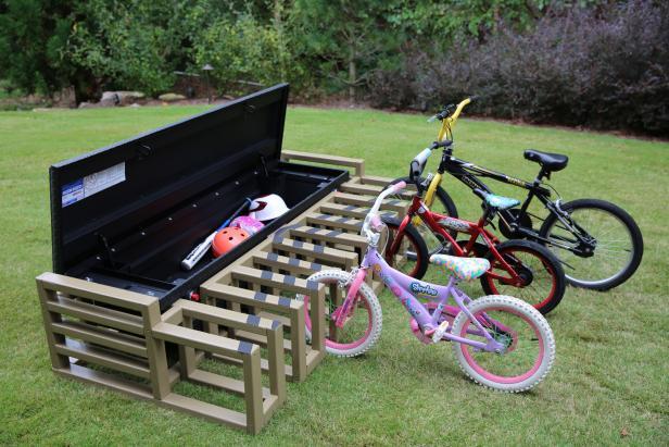 backyard bike rack