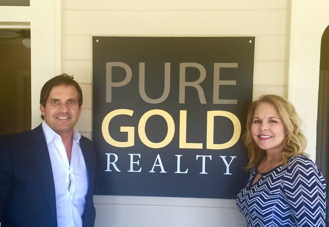 Carrie Rendon and Chad Goldwasser at Pure Gold Realty