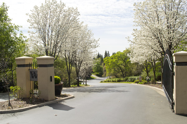 Gated entrance to Wedgewood, Granite Bay