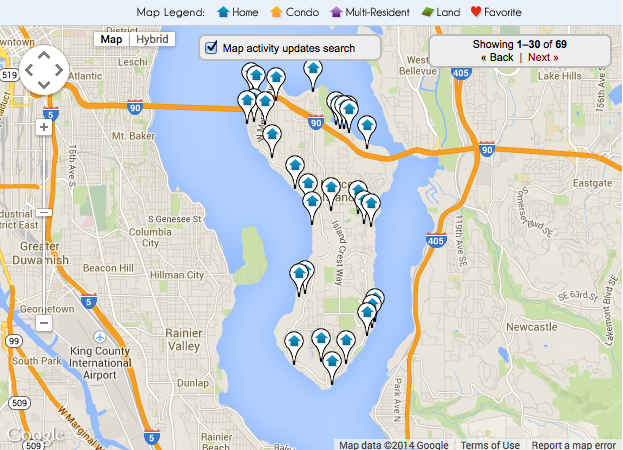 Real Estate on Mercer Island WA