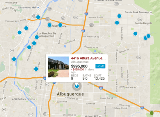 Search Albuquerque Real Estate By Map