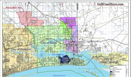 Biloxi Gulfport Annexation Dispute Map