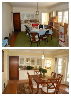 Staging before and after photos