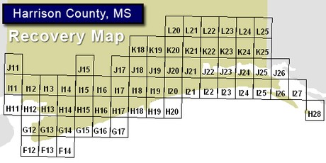 Harrison County MS FEMA Flood Recovery Map