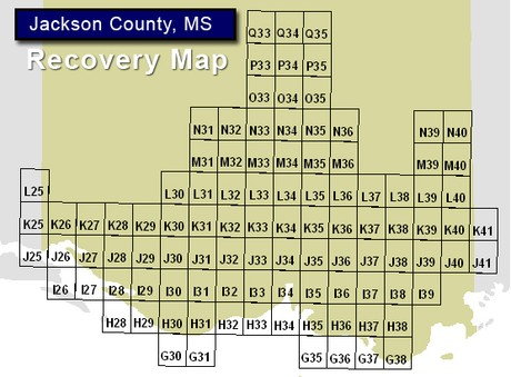 Jackson County MS FEMA Flood Recovery Map