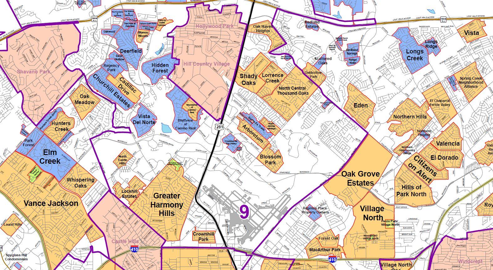 San Antonio Map Inside Loop 1604